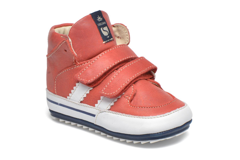 Chaussures à scratch Shoesme Simon Rouge vue détail/paire