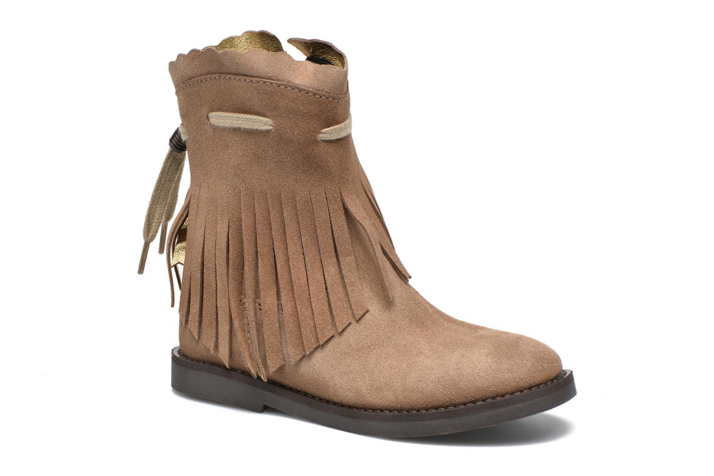 Støvler & gummistøvler Shoesme Serena Brun detaljeret billede af skoene