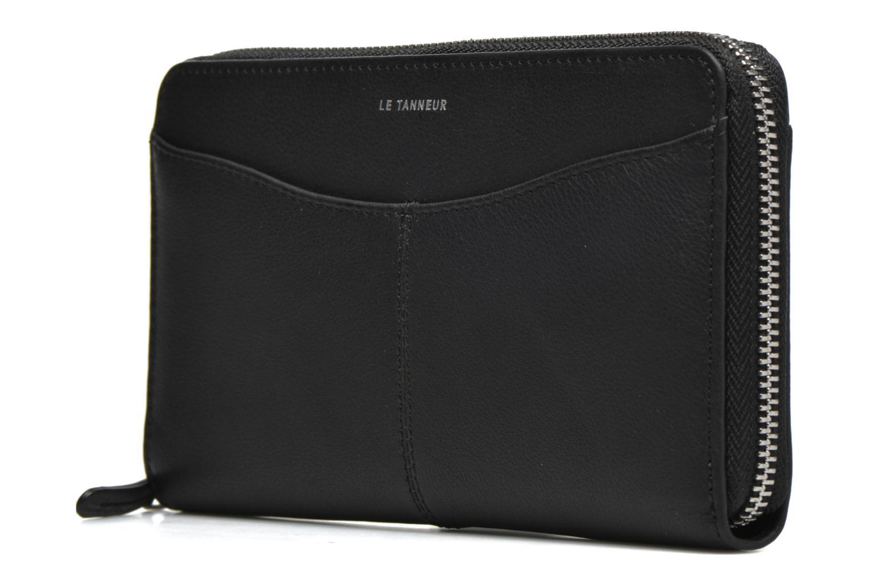 Portemonnaies & Clutches Le Tanneur VALENTINE Porte-monnaie long zippé schwarz schuhe getragen