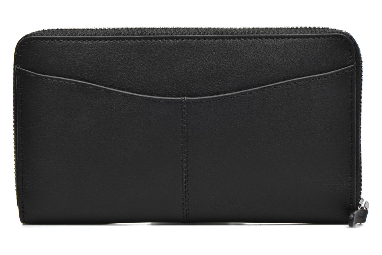 VALENTINE Porte-monnaie long zippé Noir