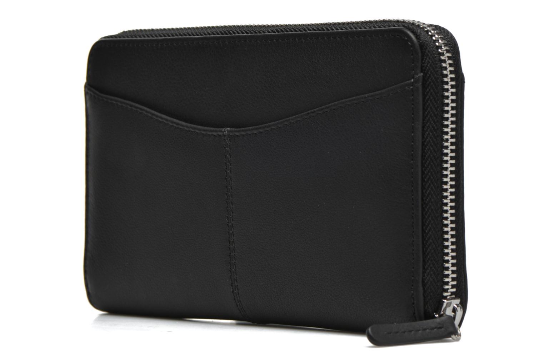 Portemonnaies & Clutches Le Tanneur VALENTINE Porte-monnaie long zippé schwarz ansicht von rechts