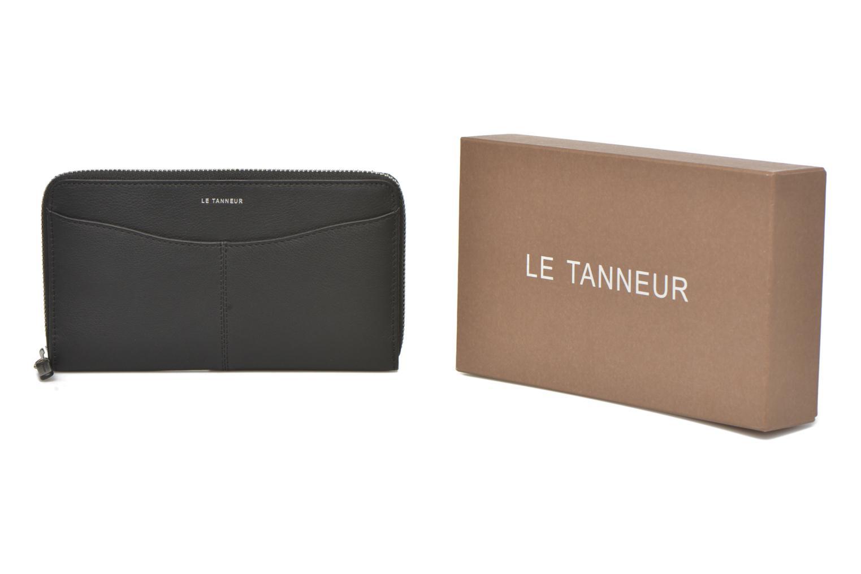 Portemonnaies & Clutches Le Tanneur VALENTINE Porte-monnaie long zippé schwarz detaillierte ansicht/modell