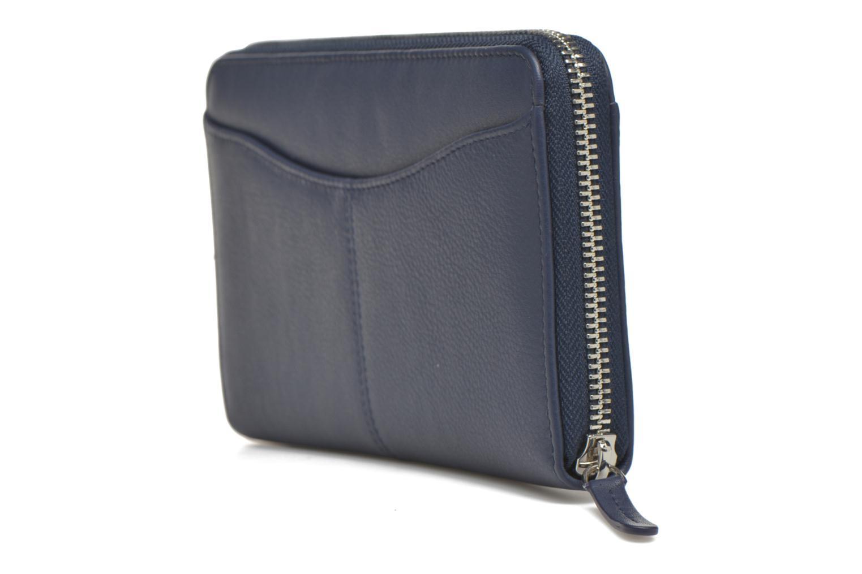 Portemonnaies & Clutches Le Tanneur VALENTINE Porte-monnaie long zippé blau ansicht von rechts