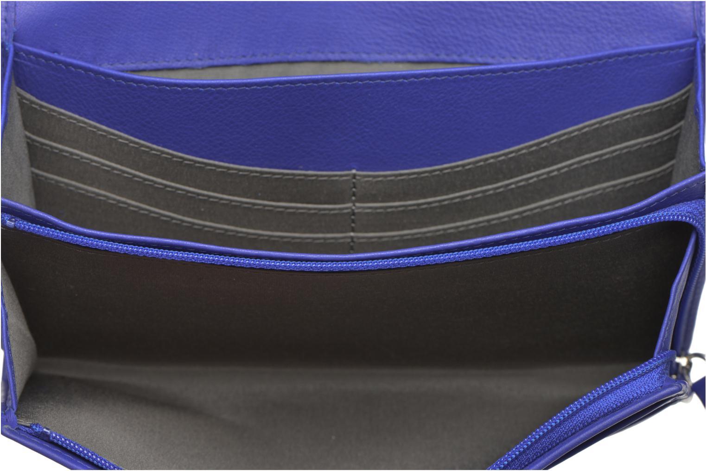 Petite Maroquinerie Le Tanneur VALENTINE Porte-monnaie long Bleu vue derrière