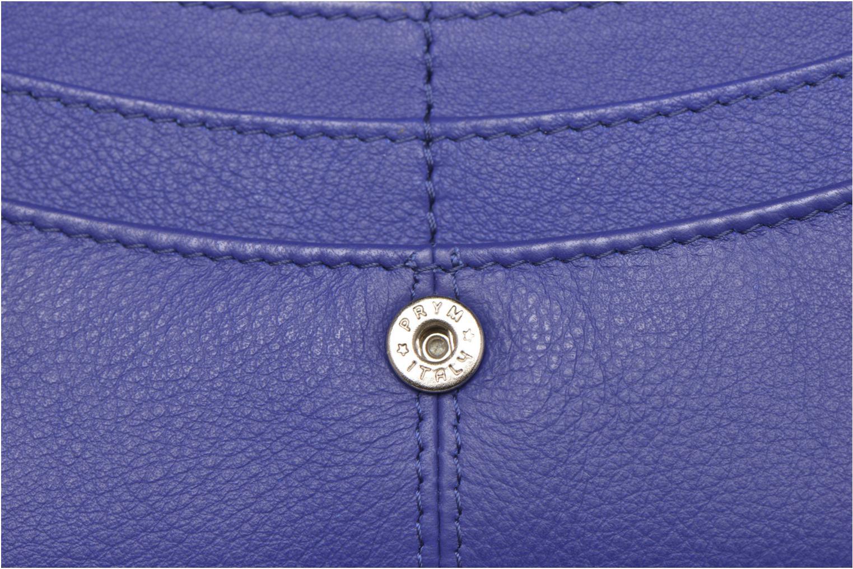 Petite Maroquinerie Le Tanneur VALENTINE Porte-monnaie long Bleu vue gauche