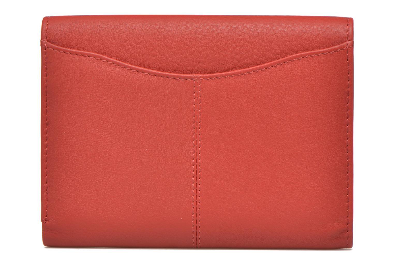 Petite Maroquinerie Le Tanneur VALENTINE Portefeuille poche zippée Rouge vue face