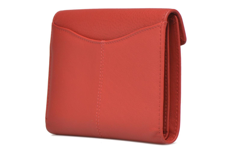 Petite Maroquinerie Le Tanneur VALENTINE Portefeuille poche zippée Rouge vue droite