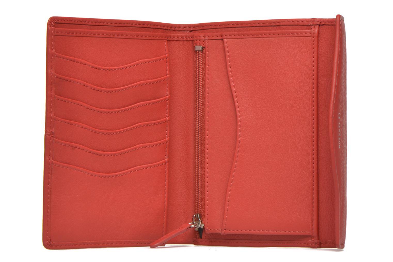 Petite Maroquinerie Le Tanneur VALENTINE Portefeuille poche zippée Rouge vue derrière