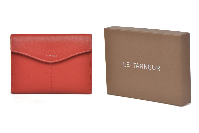 Petite Maroquinerie Le Tanneur VALENTINE Portefeuille poche zippée Rouge vue détail/paire