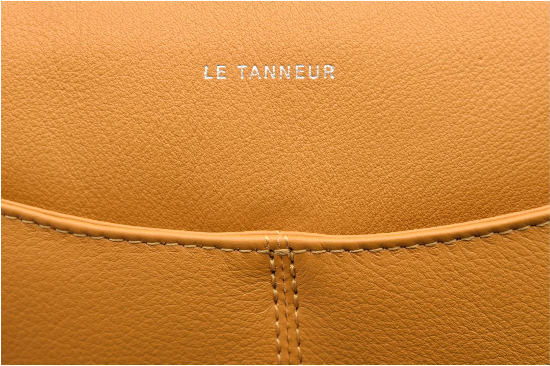 Sacs pochettes Le Tanneur VALENTINE Pochette zippée Jaune vue derrière