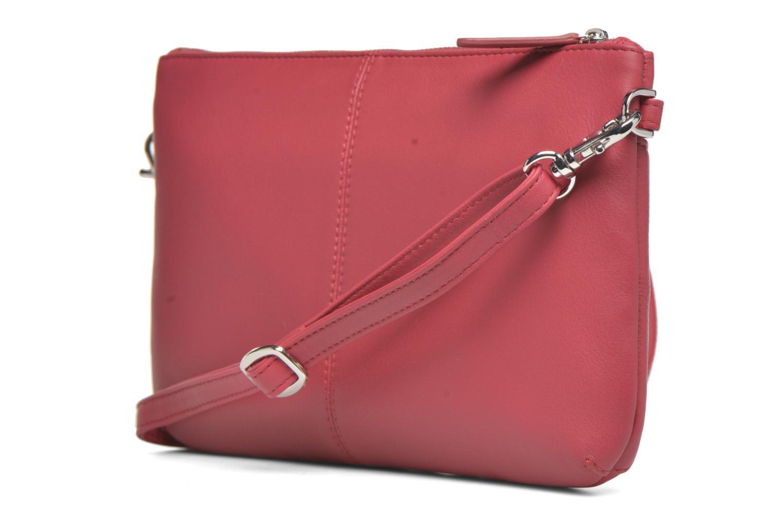 Sacs pochettes Le Tanneur VALENTINE Pochette zippée Rose vue portées chaussures