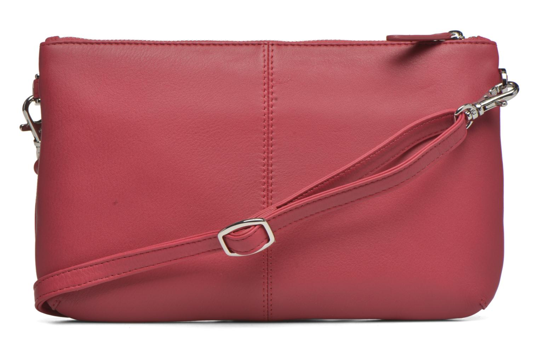 Sacs pochettes Le Tanneur VALENTINE Pochette zippée Rose vue face