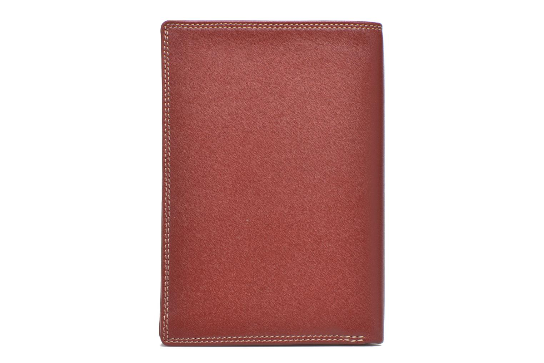 Marroquinería pequeña Le Tanneur TOURAINE Portefeuille poche zip 2 volets Rojo vista de frente