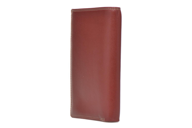 Marroquinería pequeña Le Tanneur TOURAINE Portefeuille poche zip 2 volets Rojo vista lateral derecha