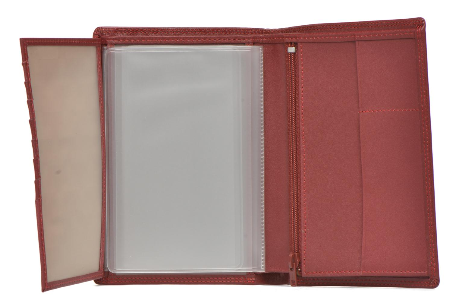 TOURAINE Portefeuille poche zip 2 volets Rouge