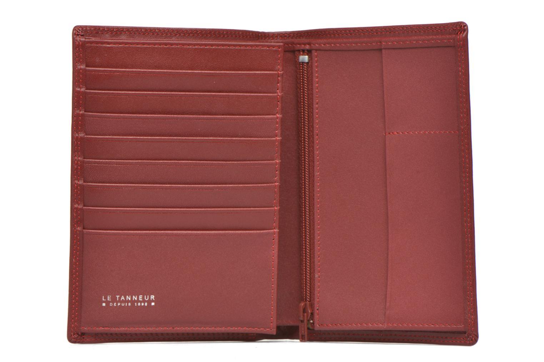Marroquinería pequeña Le Tanneur TOURAINE Portefeuille poche zip 2 volets Rojo vista lateral izquierda