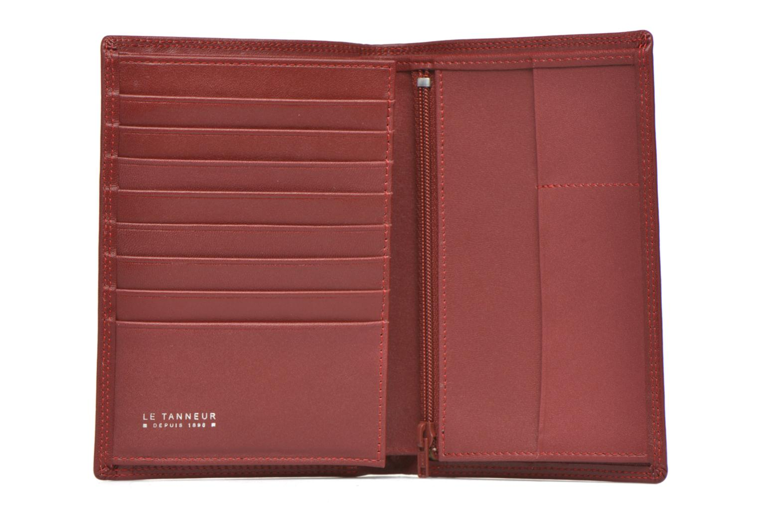 Wallets & cases Le Tanneur TOURAINE Portefeuille poche zip 2 volets Red view from the left