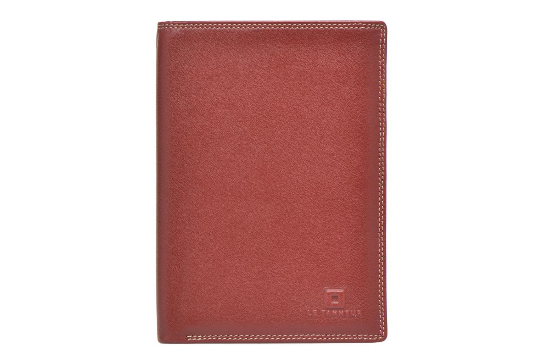 Marroquinería pequeña Le Tanneur TOURAINE Portefeuille poche zip 2 volets Rojo vista de detalle / par