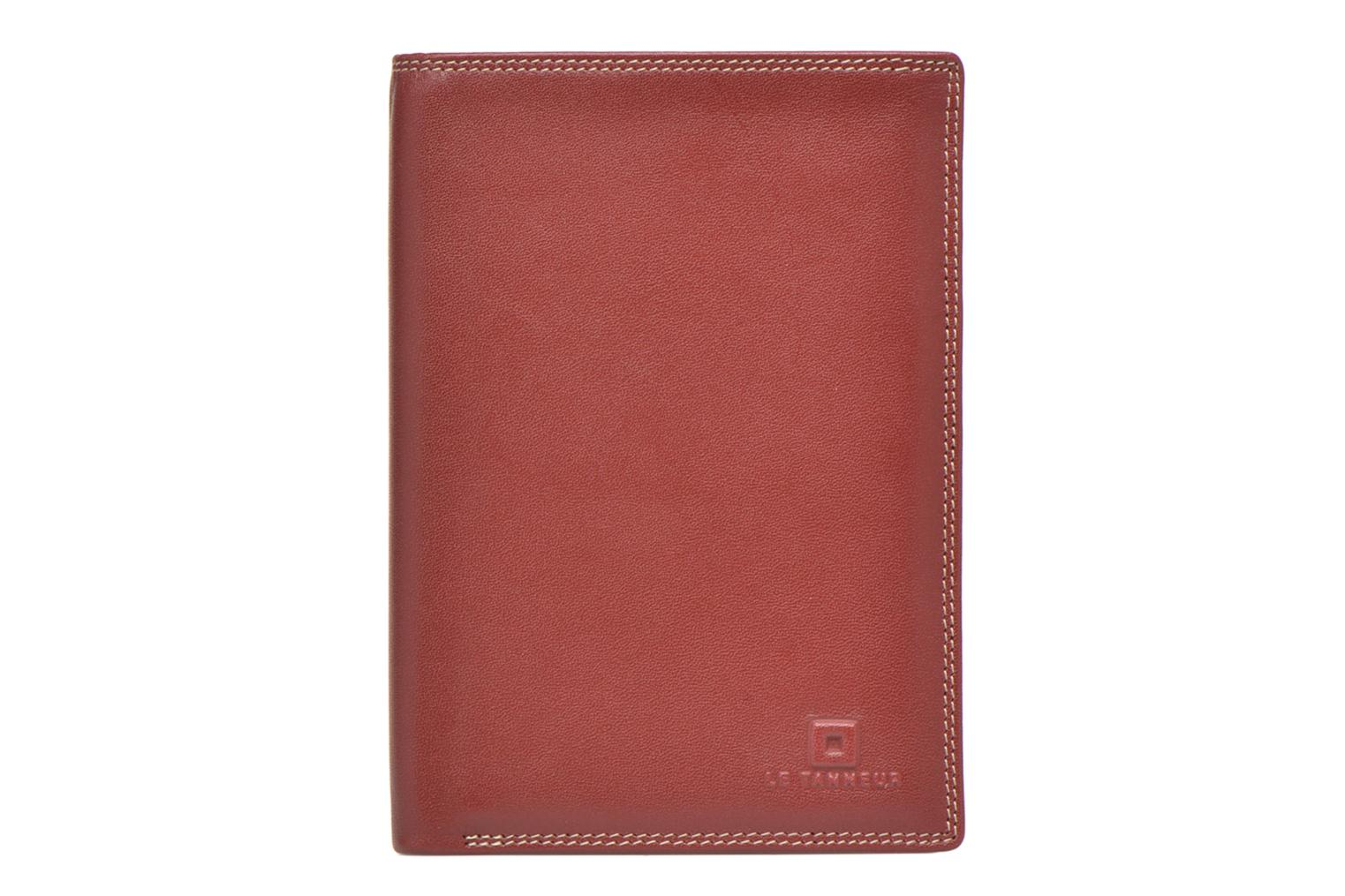 Wallets & cases Le Tanneur TOURAINE Portefeuille poche zip 2 volets Red detailed view/ Pair view