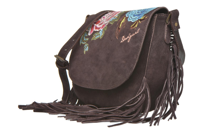 Handtaschen Desigual ANTEDOTS VARSOVIA Porté travers braun schuhe getragen