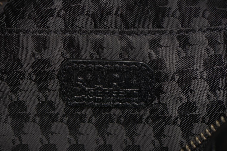 Håndtasker Karl Lagerfeld Kuilted Mini crossbody Sort se bagfra