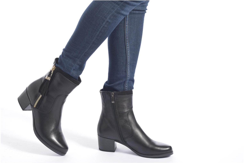 Bottines et boots Caprice Bella Zip Noir vue bas / vue portée sac