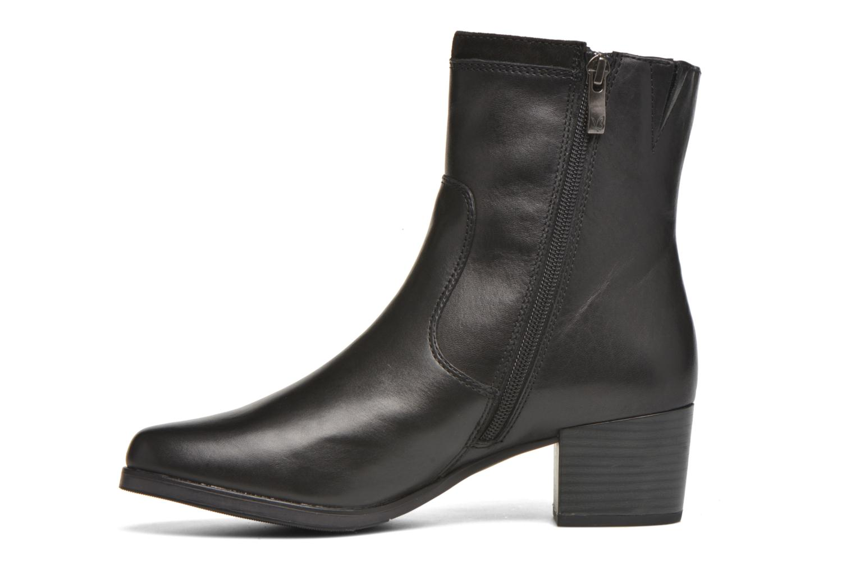 Bottines et boots Caprice Bella Zip Noir vue face