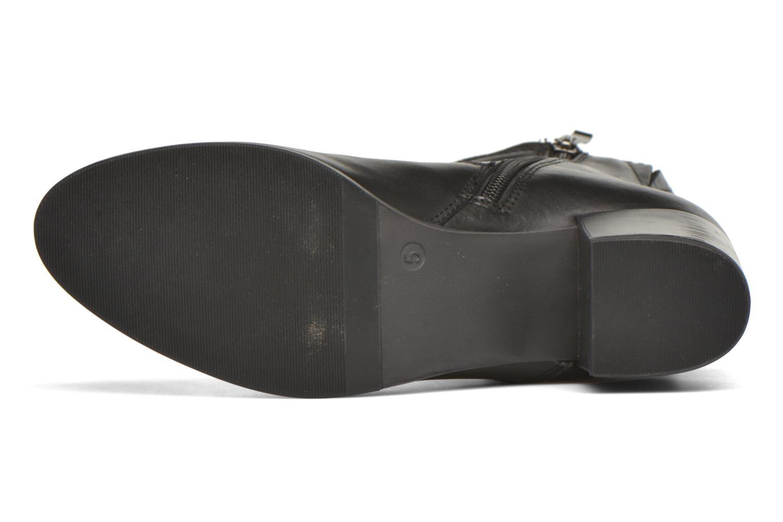 Bottines et boots Caprice Bella Zip Noir vue haut