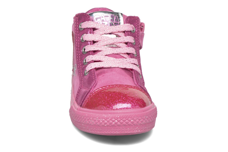 Baskets Agatha Ruiz de la Prada Mini Lollipop 2 Rose vue portées chaussures