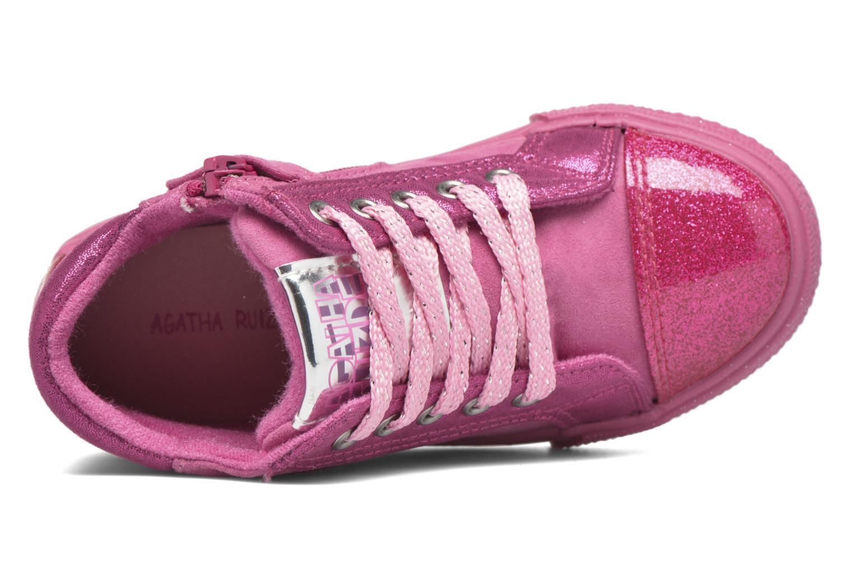 Sneakers Agatha Ruiz de la Prada Mini Lollipop 2 Rosa immagine sinistra