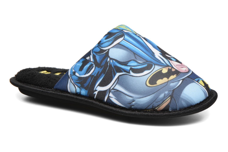 Pantuflas Batman Bat Badar Negro vista de detalle / par