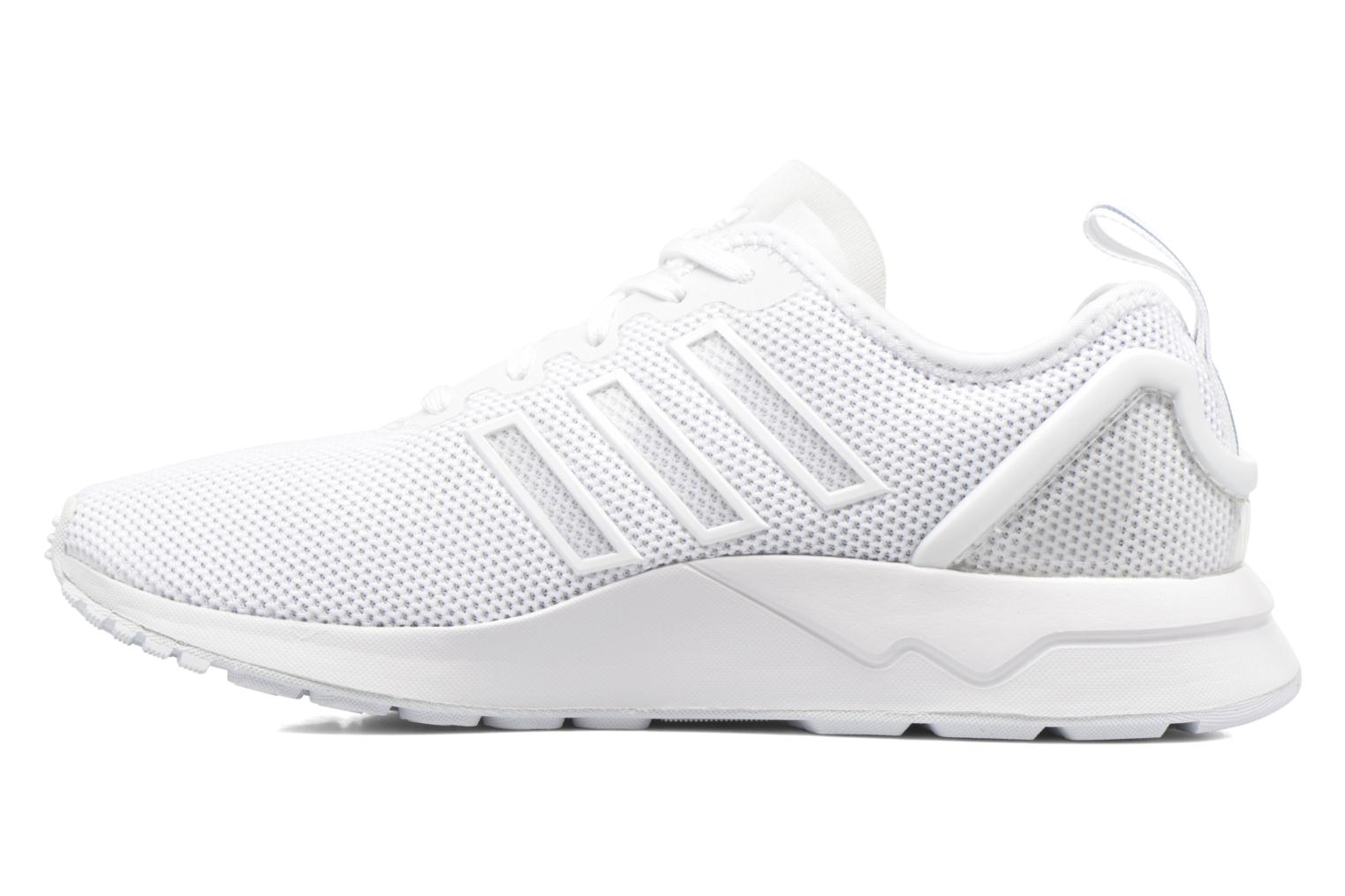 Trainers Adidas Originals Zx Flux Adv J White front view