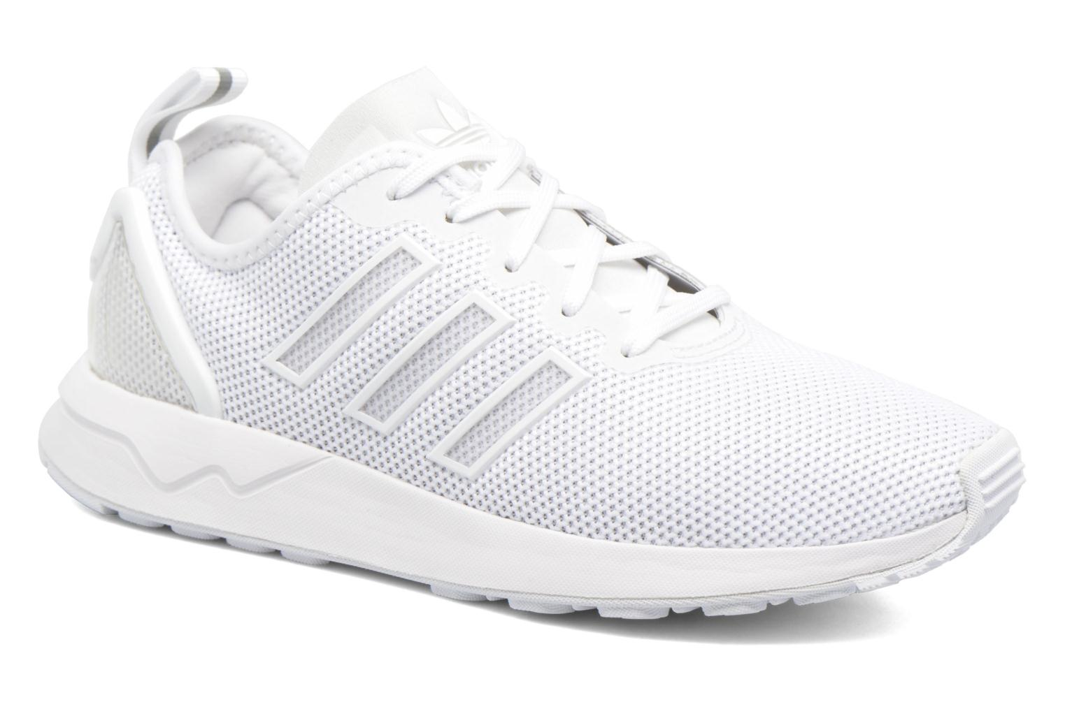 Trainers Adidas Originals Zx Flux Adv J White detailed view/ Pair view