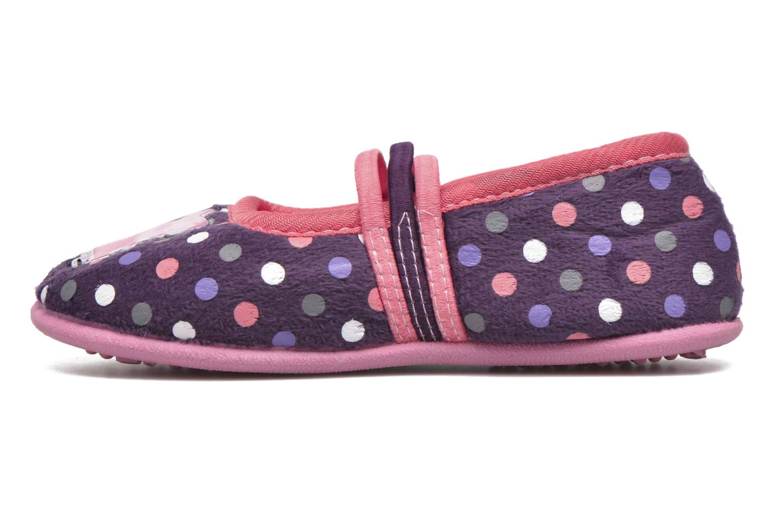 Chaussons Peppa Pig Linda Violet vue face