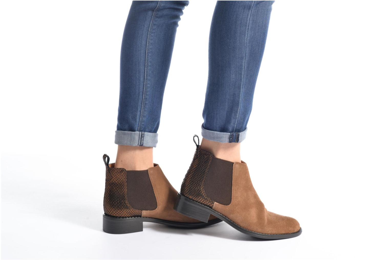 Bottines et boots Georgia Rose Celadon Bleu vue bas / vue portée sac