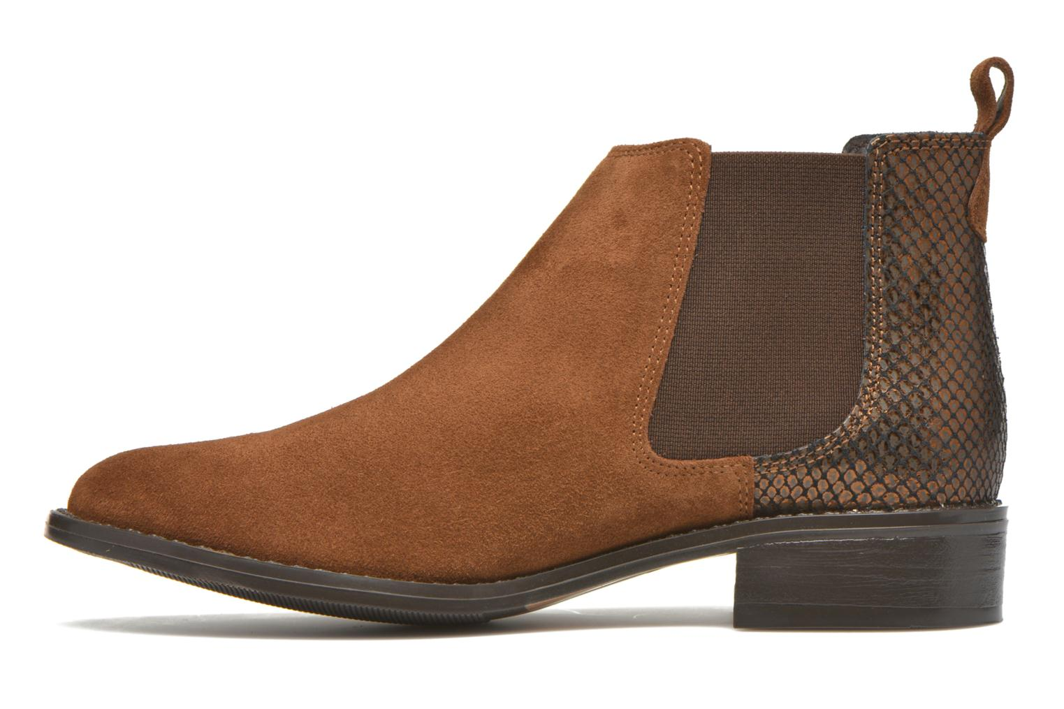 Ankle boots Georgia Rose Celadon Brown front view