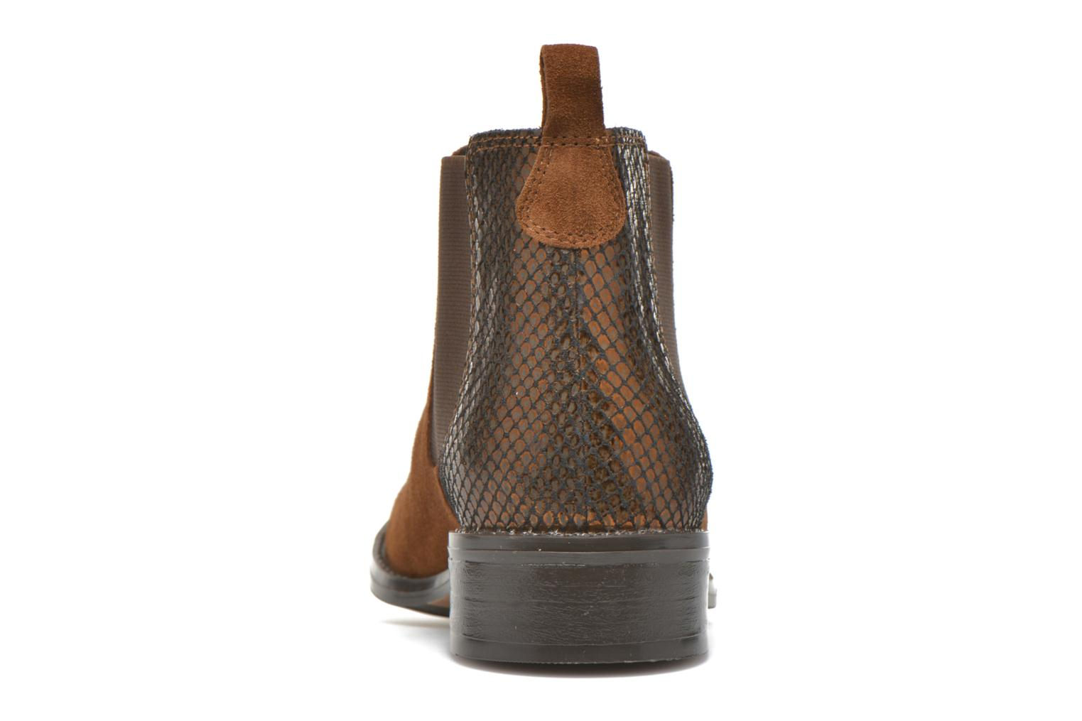 Ankle boots Georgia Rose Celadon Brown view from the right