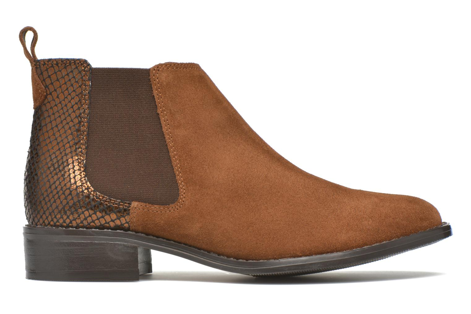 Ankle boots Georgia Rose Celadon Brown back view