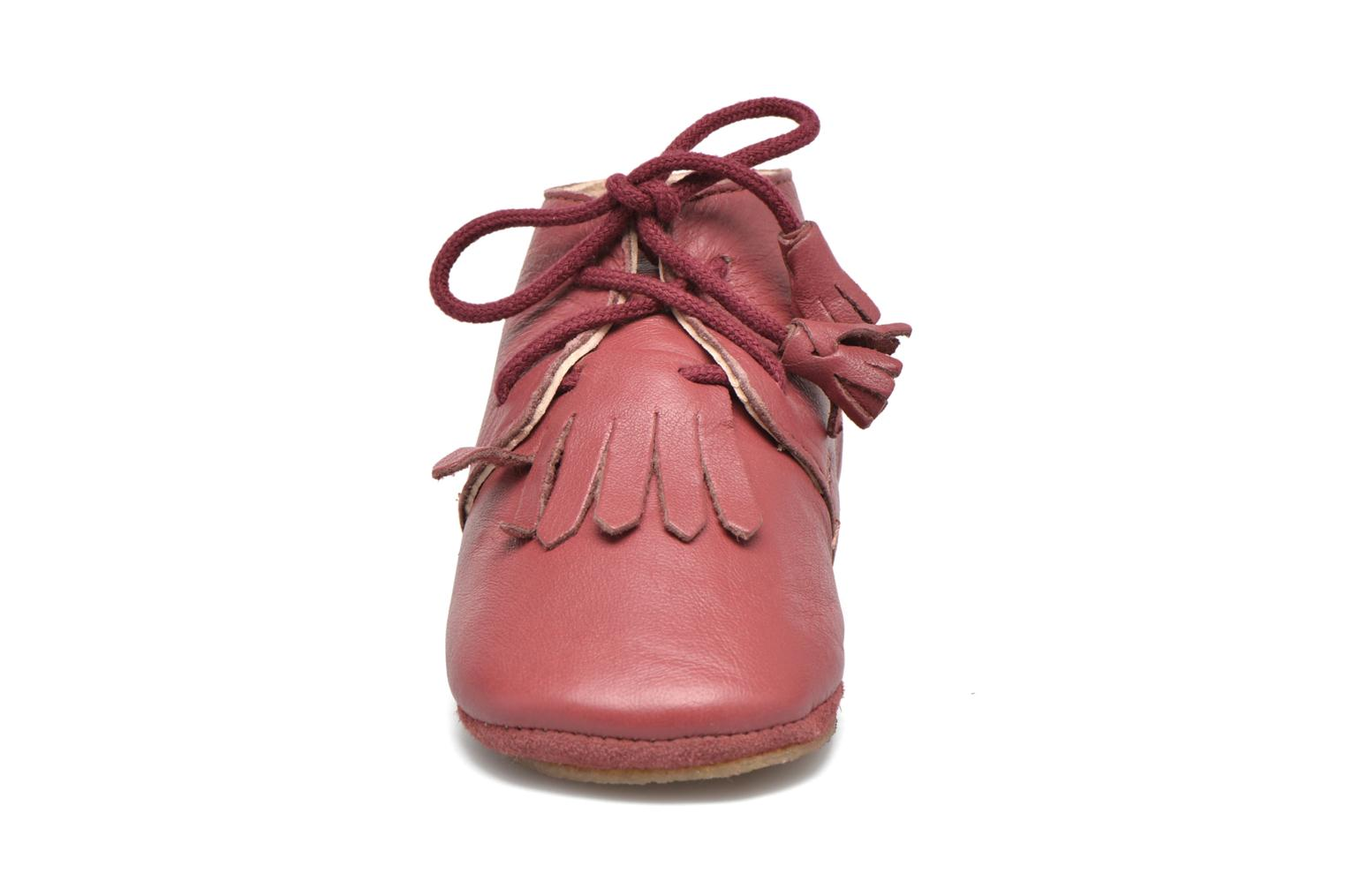 Chaussons Easy Peasy Mexip Rouge vue portées chaussures