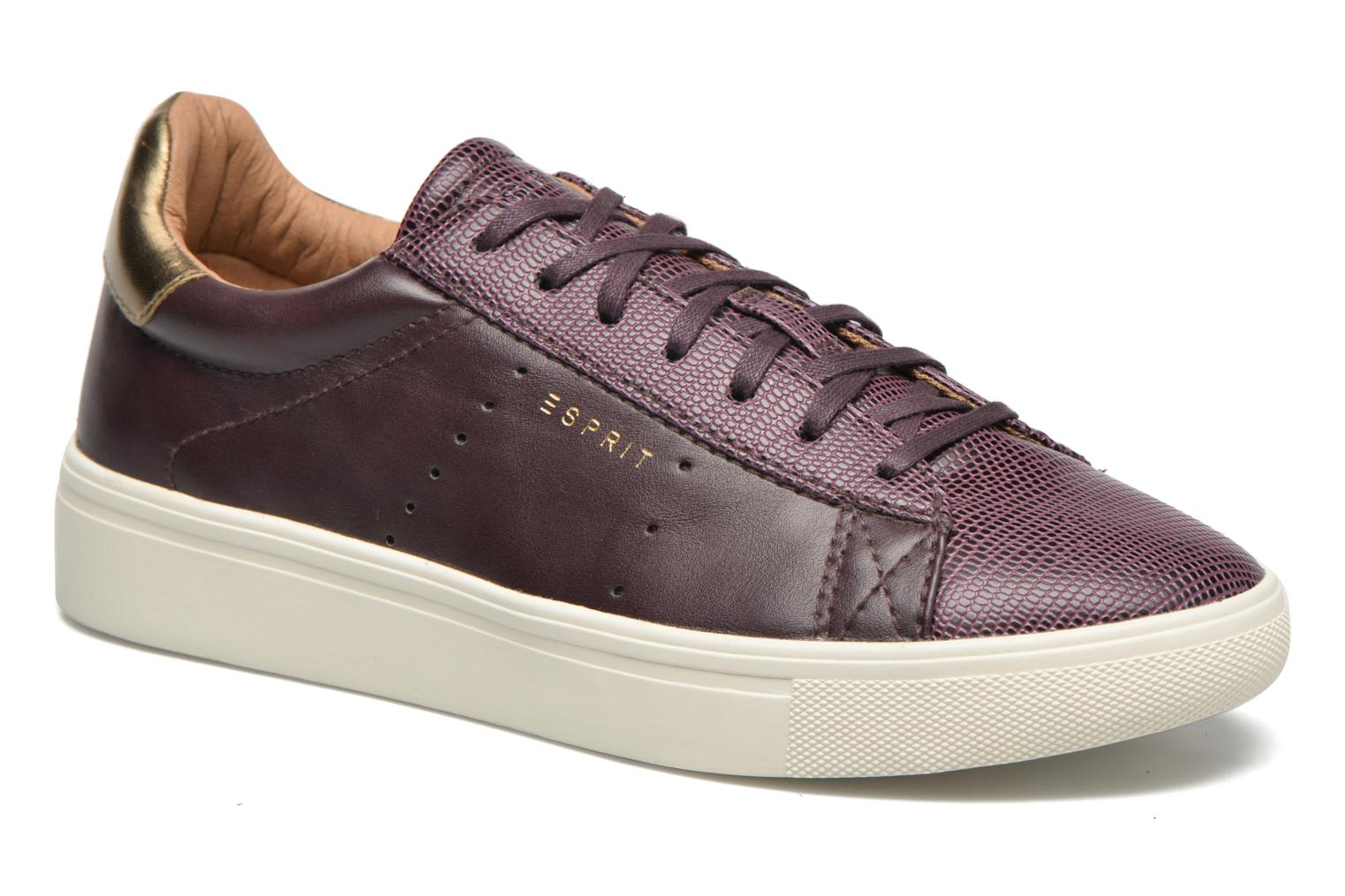Trainers Esprit Lizette Lace Up Burgundy detailed view/ Pair view