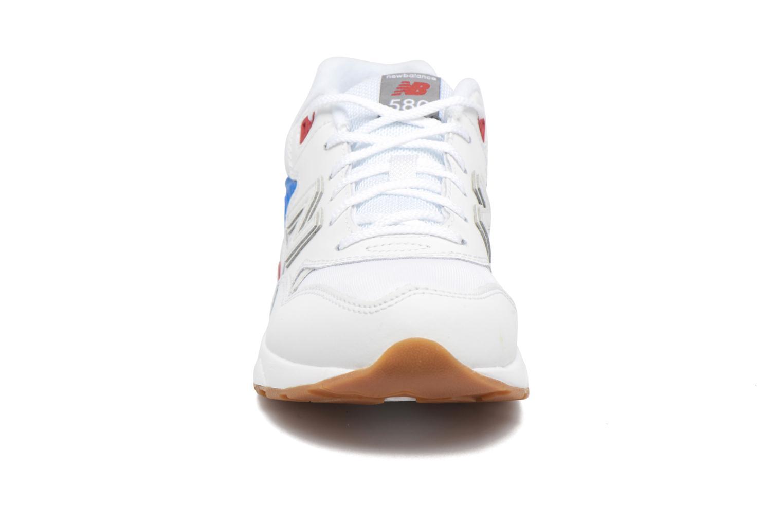 Sneaker New Balance KL580 J weiß schuhe getragen