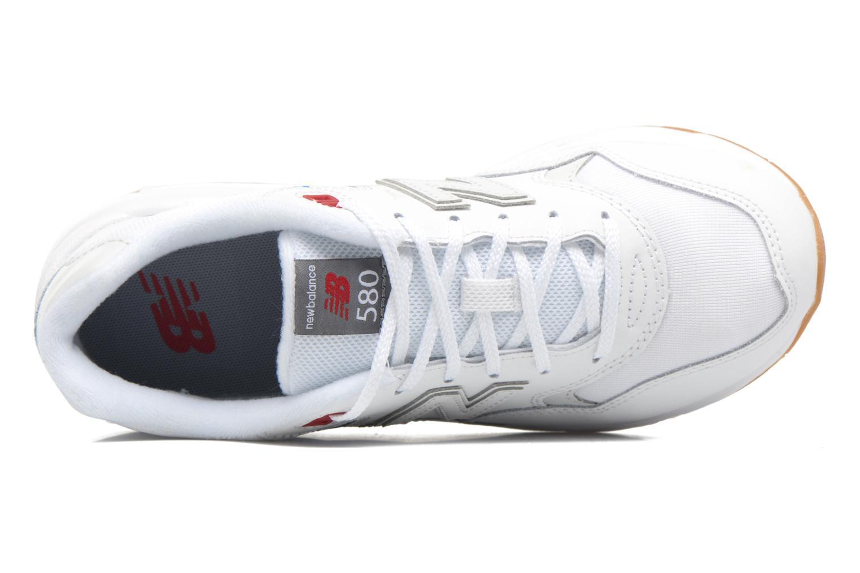 Sneaker New Balance KL580 J weiß ansicht von links