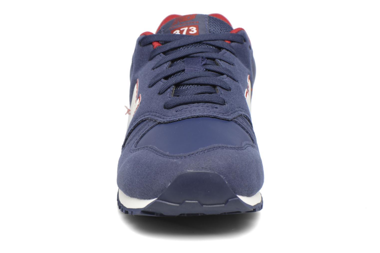 Baskets New Balance KJ373 J Bleu vue portées chaussures