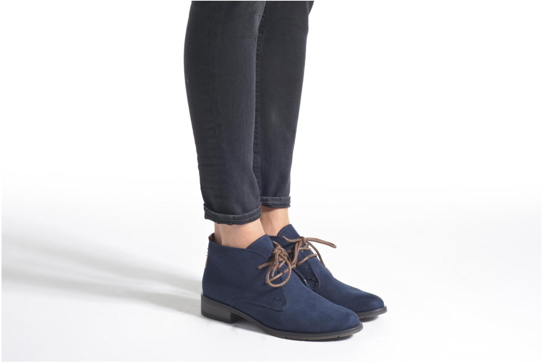 Chaussures à lacets Marco Tozzi Jina Gris vue bas / vue portée sac