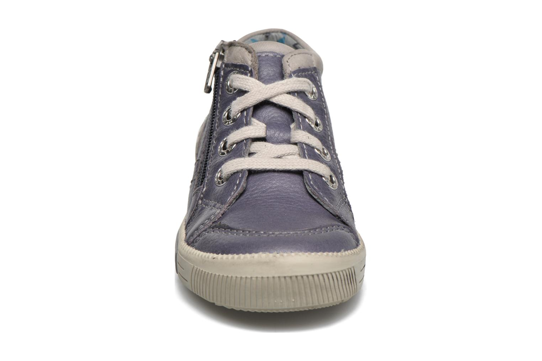 Baskets Noël Mini Rolo Bleu vue portées chaussures