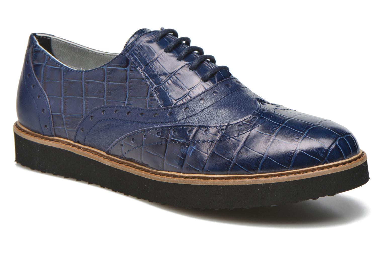 Chaussures à lacets Ippon Vintage Andy croco Bleu vue détail/paire