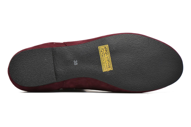 Bottines et boots Ippon Vintage Patch folk Bordeaux vue haut