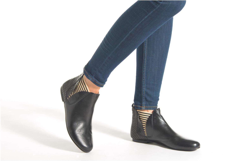 Bottines et boots Ippon Vintage Patch Rock Noir vue bas / vue portée sac