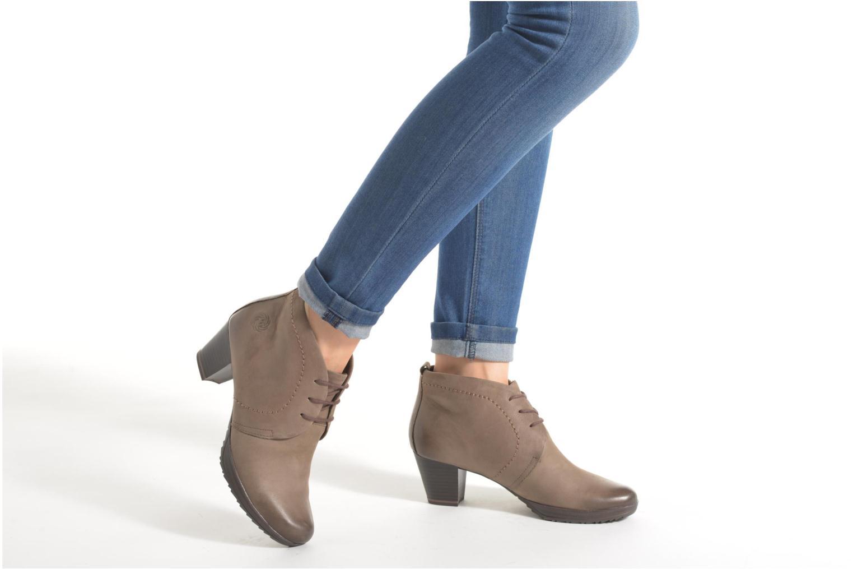 Chaussures à lacets Marco Tozzi Aciala Gris vue bas / vue portée sac
