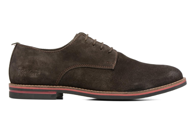 Zapatos con cordones Kickers Eldan Marrón vistra trasera